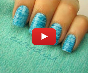 Striped Nail Art using FLOSS?!