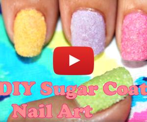 This Sugar Nail Art Is Pretty Sweet