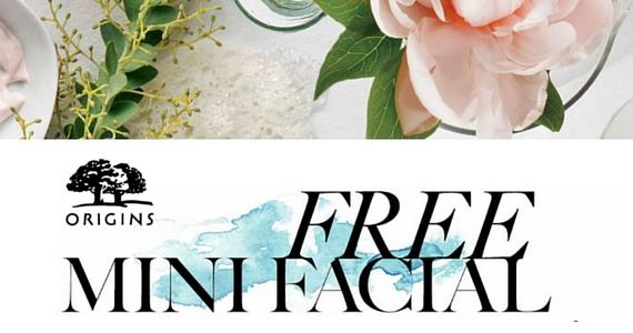 Free Mini Facial at Origins