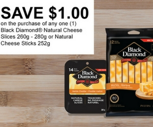 Save $1 Off Black Diamond Cheese Slices
