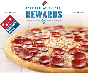 Piece of Pie Rewards with Domino's Pizza
