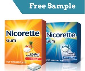 Free Sample of NICORETTE Gum