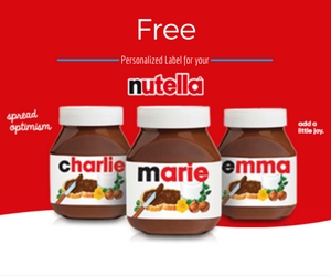 Personalized Nutella Labels