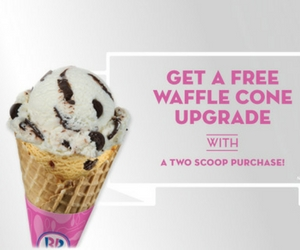 Get a Free Waffle Cone Upgrade