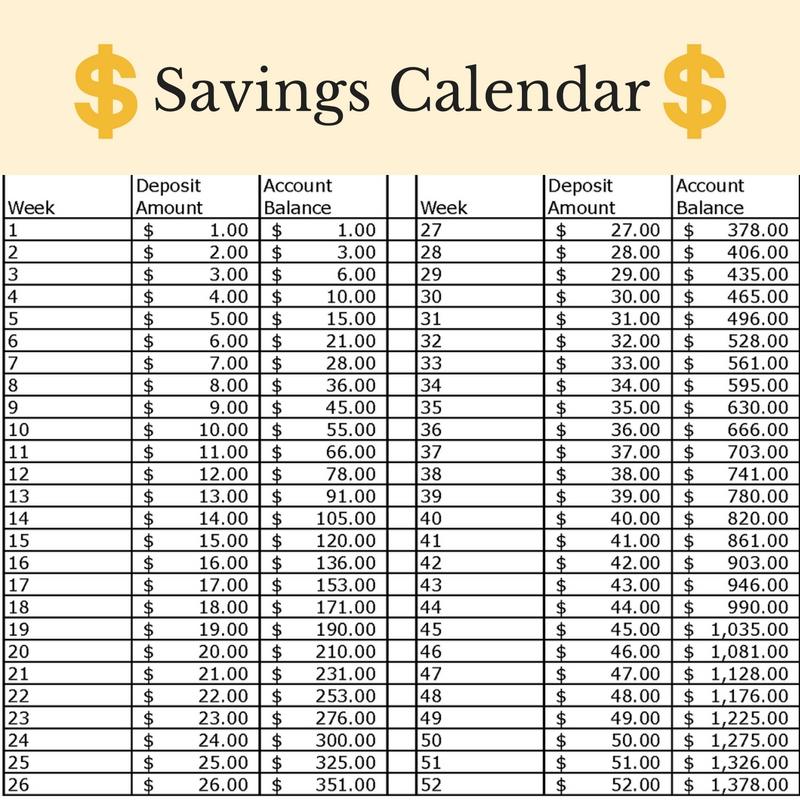 Savings-Calendar