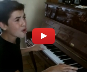 You Have to See This 14 Year Old Perform Elvis