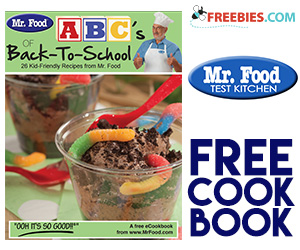 Free Copy of Mr. Food Kid-Friendly eCookbook