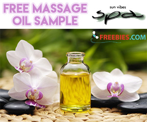 Free Sample of Sun Vibes Spa Massage Oil