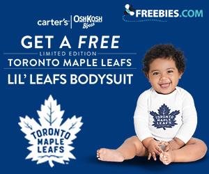 Free Limited Edition Toronto Maple Leafs Lil` Leafs Bodysuit