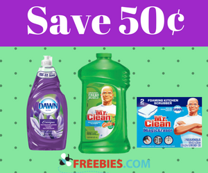 Save 50¢ on Mr. Clean or Dawn