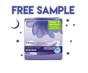 Free Sample of TENA Overnight Underwear