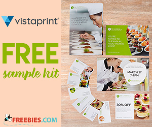 Free Sample Kit From Vistaprint