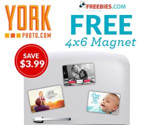 Free 4×6 Fridge Photo Magnet
