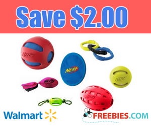 Save $2 on NERF Dog Toy at Walmart