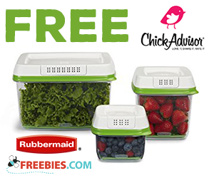 Chick Advisor – Free Rubbermaid FreshWorks Container