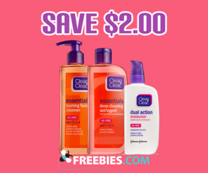 Save $2 off Clean & Clear Products
