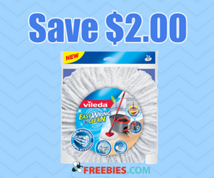 Save $2 on a Vileda EasyWring Refill