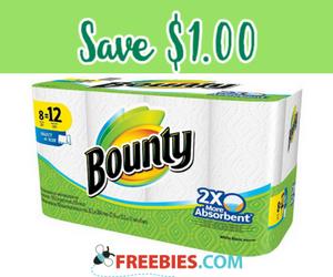 Save $1.00 on Bounty