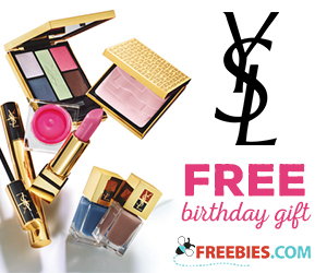 Free Birthday Gift from Yves Saint Laurent