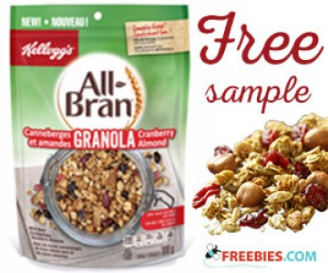 Free All-Bran Cranberry Almond Granola