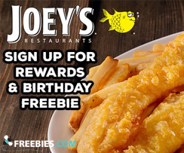 Free Food from Joey's