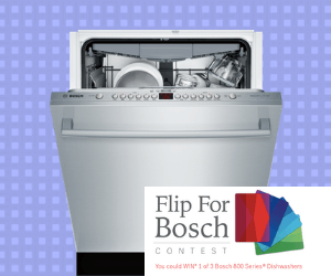 Win 1 of 3 Free Bosch Dishwashers