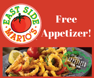 Free East Side Mario's Appetizer
