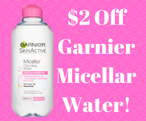 Save $2 on Garnier Micellar Water