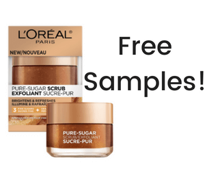 Free L'Oréal Sugar Scrub Samples