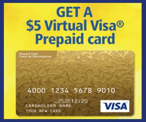 Free $5 Prepaid Virtual Visa