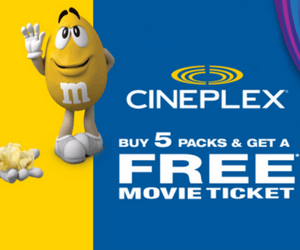 Free Cineplex Movie Ticket