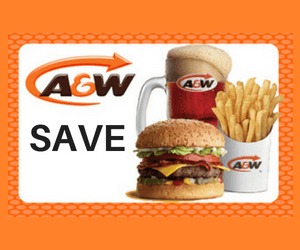 Valuable A&W Coupons