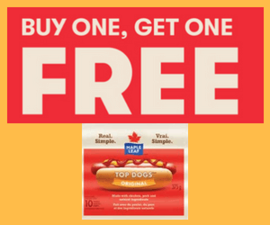 BOGO Free Maple Leaf Hot Dogs