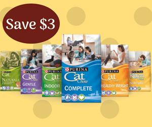 Purina Coupon: $3 Off Purina Cat Food