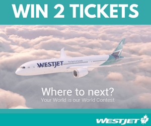 Win A WestJet Trip for 2 Anywhere!