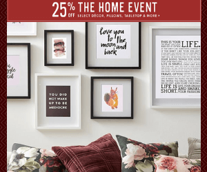 25% Off Home Decor at Indigo