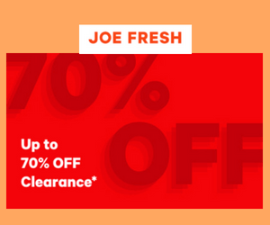 70% Off at Joe Fresh