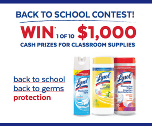 Win $1,000 Cash from Lysol