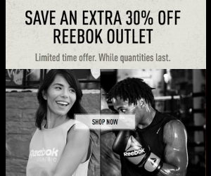 30% Off at Reebok