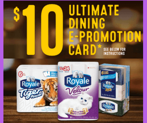 Free $10 Dining Card from Royale