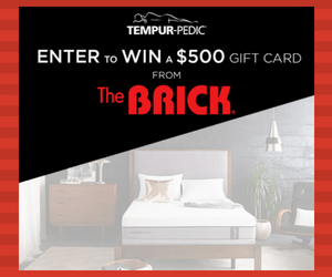 Win a $500 Gift Card to The Brick