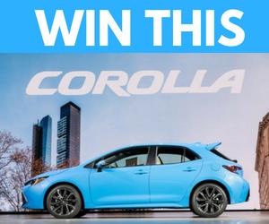 Win a 2019 Toyota Corolla Hatchback XSE!