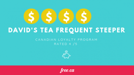David's Tea Frequent Steeper rating from Free.ca loyalty programs in canada