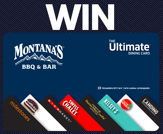 Win a Free $50 Montana's Gift Card