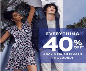 40% Off Everything at Banana Republic!