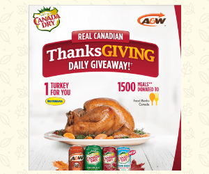 Win a Free Turkey a Day from Canada Dry