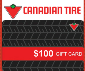 Win a Free $100 Canadian Tire Gift Card