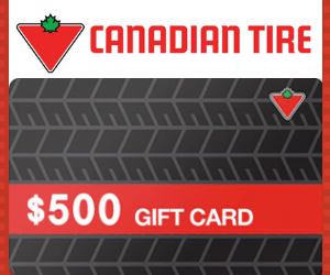 Win a $500 Canadian Tire Gift Card