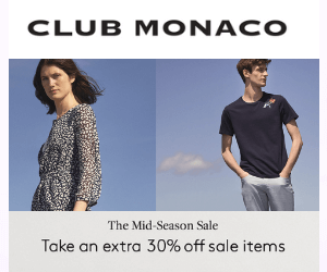 30% Off at Club Monaco