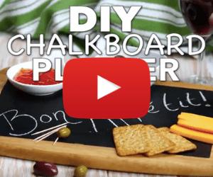 DIY Chalkboard Platter